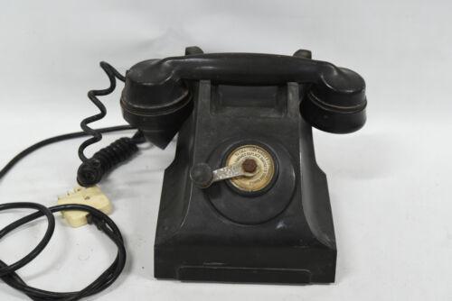 Vintage PMG E-49 Bakelite Crank Wind Telephone 1950