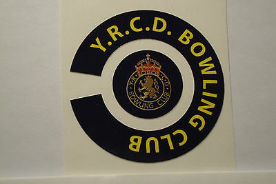 Y.R.C.D. BOWLING CLUB  16 CROWN GREEN  BOWLS STICKERS 8 FINGER + 8 THUMB