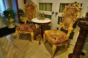 Fantastic rococo French chairs from Italy