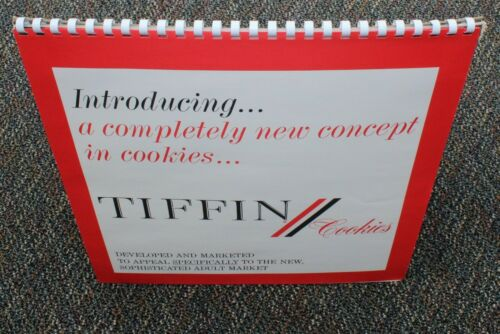 Tiffin Adult Cookies Nabisco 1966 SALESMAN SAMPLE SALES PRESENTATION FLIP BOARD