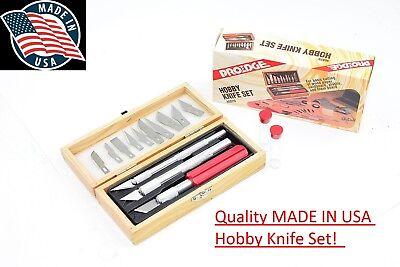 Hobby Blade - PROEDGE Made in USA Hobby Knife Set 16 piece Razor Blade for Hobby Model Car Kit