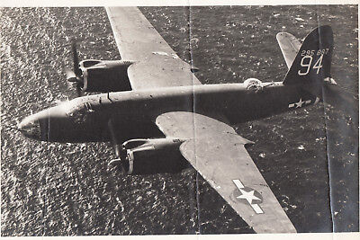 WORLD WAR ll ~ B-26 MARTIN MARAUDER BOMBER FLYING OVER THE OCEAN, used for sale  Shipping to Canada