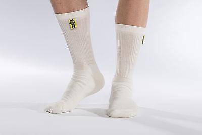FIA Nomex kurze Socken Classic uni weiß FIA 8856-2000