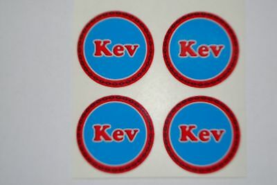 """Kev    12  CROWN GREEN STICKERS  1""""  LAWN BOWLS FLATGREEN  AND INDOOR BOWLS"""