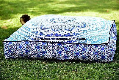 Indisch Mandala Boden Kissen Quadrat Meditation Kissen Deckt Sitzpuff Liegestuhl - Wohnzimmer Stuhl Deckt