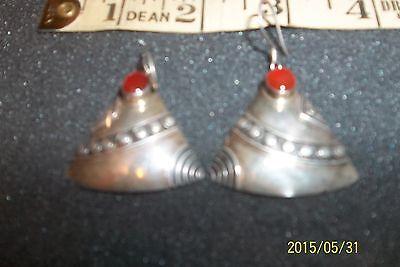 Designer Art Glass Earrings -  DESIGN designer STERLING SILVER ART GLASS DANGLE  EARRINGS
