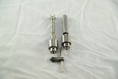 Pair Of Jacobs Chuck 0 0b W Straight Shank And Pin Vice Arbors