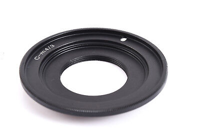Black Magic C Mount TV Lens to BMPCC Adapter For MFT Micro 4/3 (Micro 4 3 To C Mount Adapter)