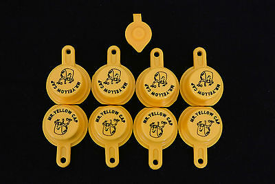 8x Blitz Yellow Spout Caps For Gas Can Spouts 900302 900092 900094 - Free Vent