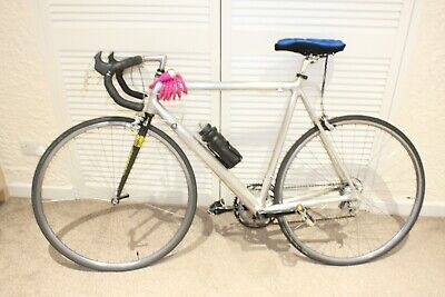 ROAD BICYCLE ROAD BIKE SILVER CANNONDALE CAAD BIKE USED CONDITION WORKING MENS