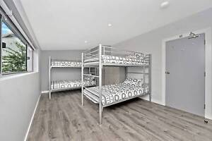 Commercial King Single Bunk Bed with Vinyl Covered Mattress