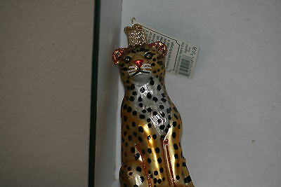 Leopard    Old World Christmas glass ornament