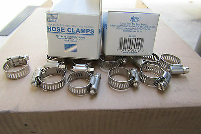 "320 PCS #10 STAINLESS**BAND & HOUSING HOSE CLAMP,3/8""-1 1/16"",FREE SHIPPING.MFRB"