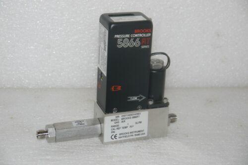 BROOKS INSTRUMENTS 5866RT AIR 1 SLPM MASS FLOW PRESSURE CONTROLLER 1000 SCCM