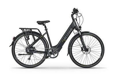 Hybrid Trekking Electric Bike Step Through 19 Inch Black eBike E-Bike