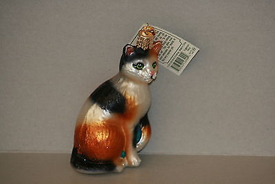 Calico Cat  Old World Christmas glass ornament