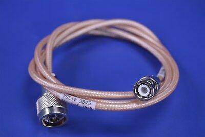 LMR195 Silver BNC MALE ANGLE to N FEMALE BULKHEAD Coax RF Cable USA Lot