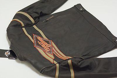 Harley Davidson Uomo Legend Sdrucito Giacca di pelle Bar&shield 2XL 98025-12VM usato  Spedire a Italy