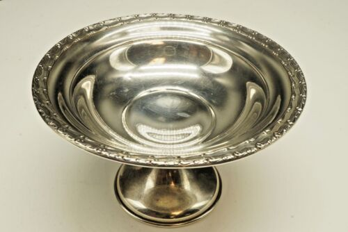 """GORHAM / Sterling Footed Compote Dish 1165 / Cement Loaded / 4"""" Tall X 6"""" 208.9g"""