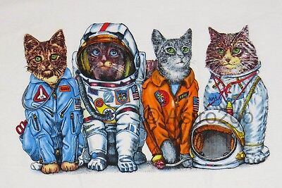 SPACE CATS--NASA Astronaut Flight Suits Astronomy Science 2 sided kids T shirt
