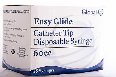 50 Pack Catheter Tip Syringe 60ml- Easy Glide-sterile New Syringe Only No Needle