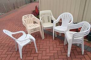 11 plastic chairs - all for $20 Riverton Canning Area Preview