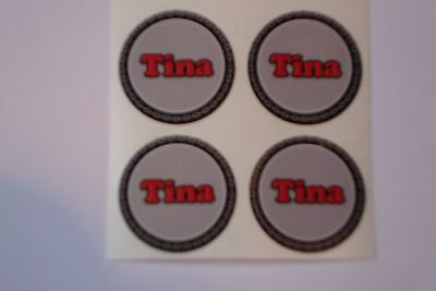 """12  Tina  CROWN GREEN STICKERS  1""""   LAWN BOWLS FLATGREEN  AND INDOOR BOWLS"""