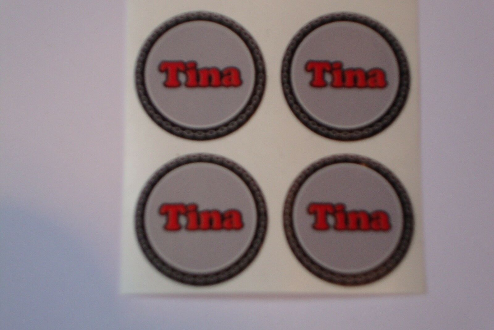 "12  Tina  CROWN GREEN STICKERS  1""   LAWN BOWLS FLATGREEN  AND INDOOR BOWLS"