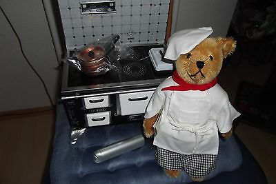 Puppenherd mit Ofenrohr von Bing, Bär als Koch, Originalverpackung, Zertifikat