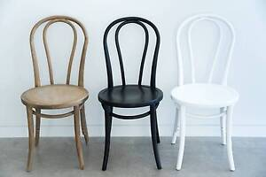 Bentwood Chairs - White, Black an Oak - Michael Thonet Replica Sunshine Coast Region Preview