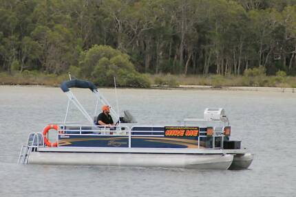 BBQ Pontoon Boat ready for hire business Tin Can Bay Gympie Area Preview