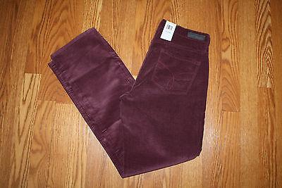 NWT Women's Calvin Klein Straight Leg Burgundy Red Malbec Corduroy Pants 2 4 6