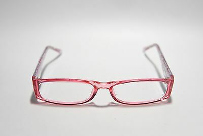 Zenni Optical Full Rim Rectangular Plastic Eyeglass Frames Clear Pink Floral New
