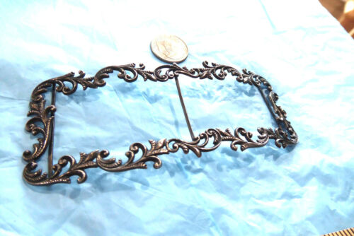 """VICTORIAN STERLING SILVER BELT BUCKLE , NECKLACE FRAME  12 GRAMS 1 5/8"""" BY 4"""""""