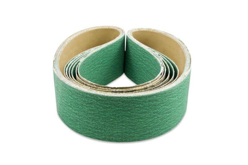 2 X 36 Inch 120 Grit Metal Grinding Zirconia Sanding Belts, 6 Pack