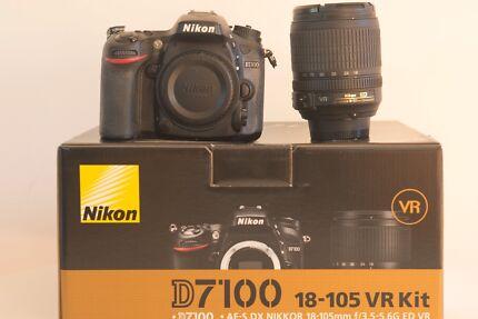 Nikon D7100 dslr camera with 18-105 Kit lens