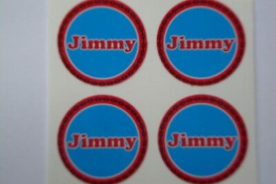 "Jimmy  16  CROWN GREEN STICKERS  1""  LAWN BOWLS FLATGREEN  AND INDOOR BOWLS"