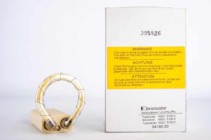 BRONCOLOR FLASHTUBE 1600J 04190.20 - 5100K FOR UL/HL/RL AND HAZY - NOS