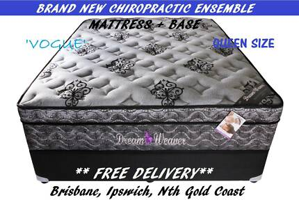 Free Delivery QUEEN BED ENSEMBLE - Mattress + Base BRAND NEW