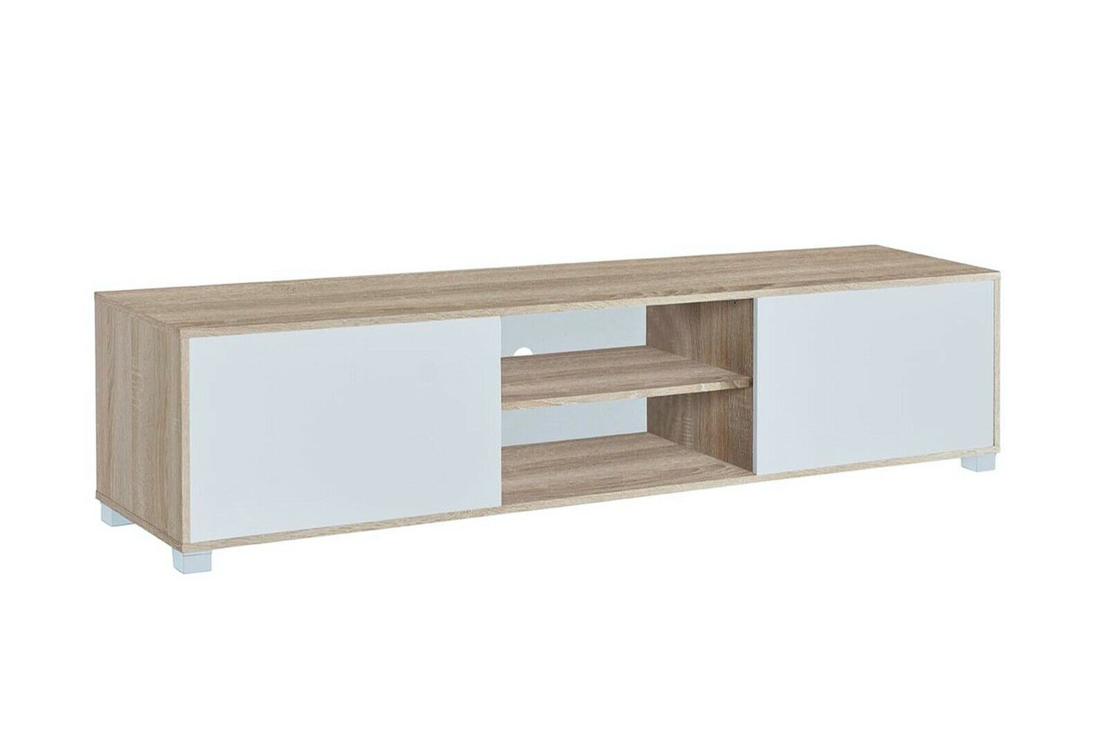 Mesa para Tv Color Roble y Blanco 180 x 40 x 41 cm Atenea
