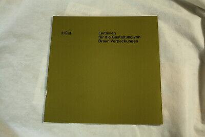 Braun Design Dieter Rams  Leitlinien Werksausgabe