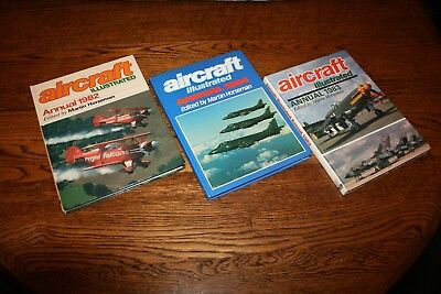 3 x Aircraft Illustrated Annuals 1982 1983 1984 Ian Allan hardback books