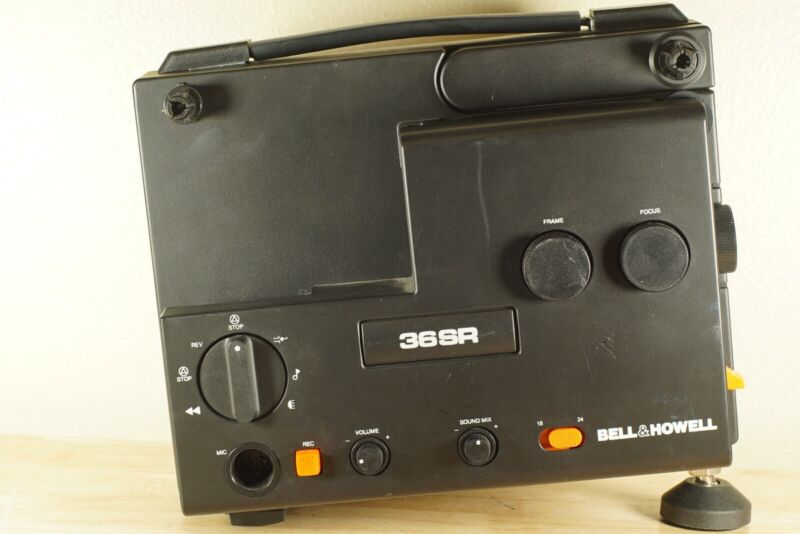 Bell & Howell 36SR Super 8 Adjustable Speed Sound Projector Film Tested Works!