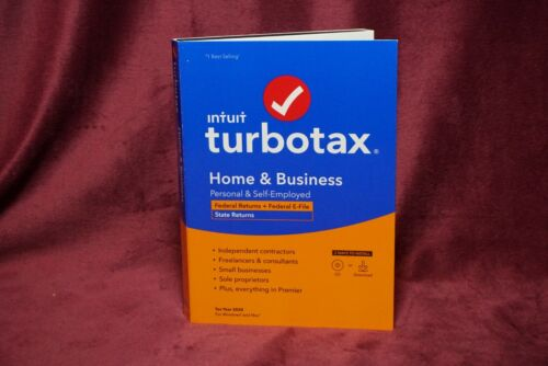 Intuit TurboTax Home & Business 2020 BRAND NEW SEALED Turbo Tax Year 2020