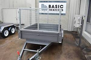 NEW 7X5 TRAILER WITH CAGE & BRAKES - AUSTRALIAN MADE Holden Hill Tea Tree Gully Area Preview