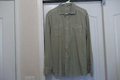 Tommy Bahama Jeans Shirt Island Modern Fit Tencel Adjustable Sleeves Men's Large