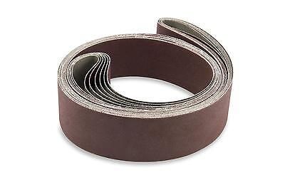 2 X 72 Inch 120 Grit Flexible Aluminum Oxide Multipurpose Sanding Belts 6 Pack