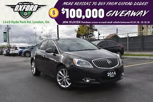 2014 Buick Verano Rust Proofed, bluetooth, back up cam