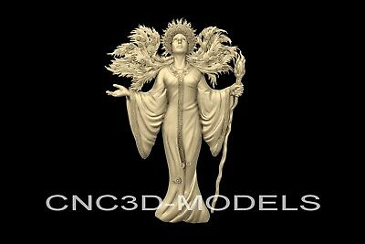 3D Model STL for CNC Router Carving Artcam Aspire Women Girl Siren Mermaid n141