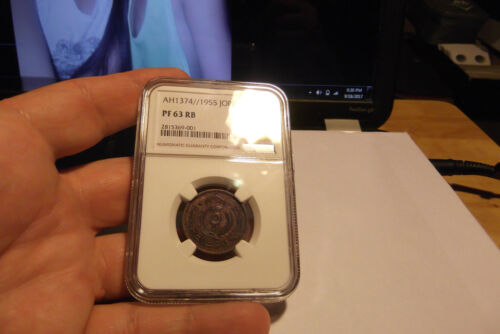 1955 JORDAN 5 FILS NGC PROOF 63 RED BROWN V.I.P. RARE